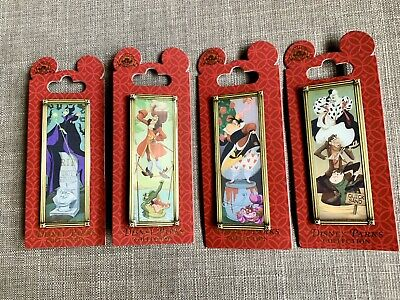 Disney Parks Haunted Mansion Villains Stretching Portrait Pin Set - Complete Set