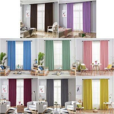 Modern Blackout Curtains for Window Blinds Finished Drapes for Living Room P4PM