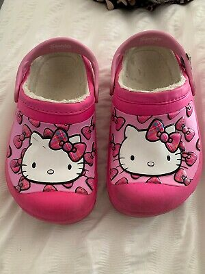 Used Girls Hello Kitty Crocs J1 UK 1