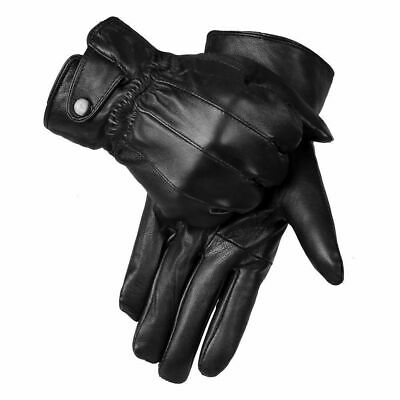 Mens Winter Warm Real Leather Gloves Thermal Thinsulate Lined Driving Soft Gift