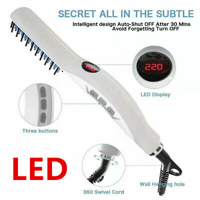 Quick Beard Straightener Hair Styler Multifunctional Comb Curler Show Cap Men cv