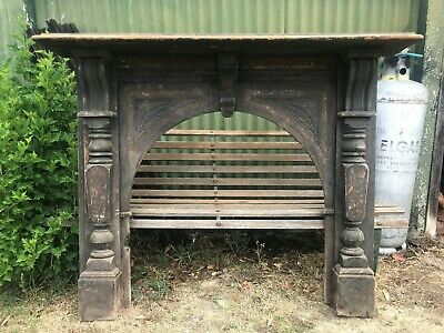 timber fire place surround