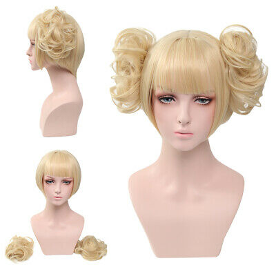 Anime Hair My Hero Academia Himiko Toga Light Blonde Ponytail Cosplay Party Wig