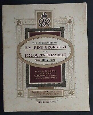 SCARCE 1937 Great Britain John Player Coronation of GVI booklet with 50 cards