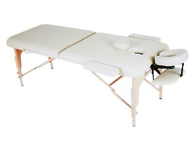 Naipo Massageliege Klappbar Massagetisch Massagestuhl verstellbar Cream HH623 A-
