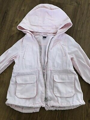 Baby Gap Girls Lightweight Jacket Pink Parka Hooded Age 4 Years