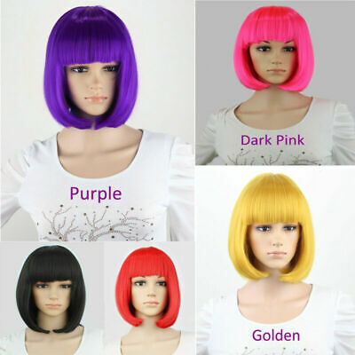 Womens Ladies Short Bob Wig Fancy Dress Cosplay Wigs POP Party Costume UK STOCK