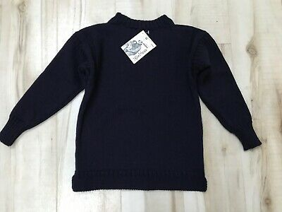 Guernsey Woollens Navy Pure New Wool Jumper - 32'' - New With Tags