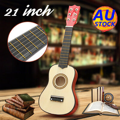 "AU 21"" Wood Beginners Acoustic Mini Guitar 6 String Kids Gift Children Music"