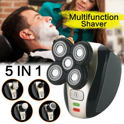 5in1 Men's 4D Electric Shaver Rechargeable Cordless Head Clipper Trimmer