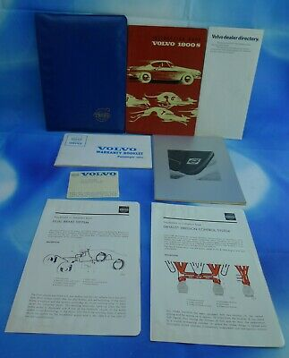 VOLVO P1800 1800S Owners Manual/Plastic Holder/Paperwork When Car Was Delivered