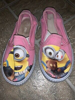 Minions Despicable Me Toddler Girls Slip On Shoes Size 8