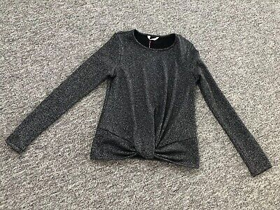 BNWT Girls Teenage Sparkly Top 16 years Matalan long sleeve knot front.