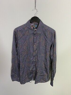 TED BAKER Shirt - 16.5 - Navy - Great Condition - Men's