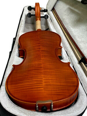 New 4/4 Adult Full Size Violin/Fiddle Flamed Maple-German