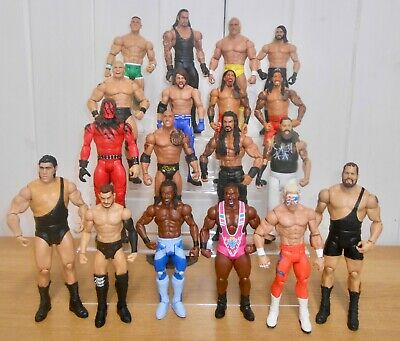Set of 4 WWE wrestling figures inc. Roman Reigns, Kane, Seth Rollins & AJ Styles