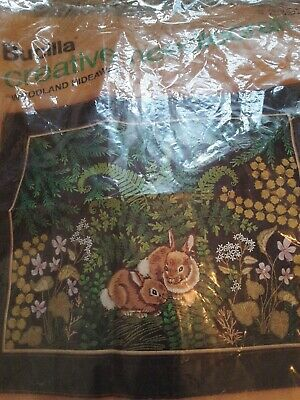 Bucilla Needle point Kit WOODLAWN HIDEAWAY has been started