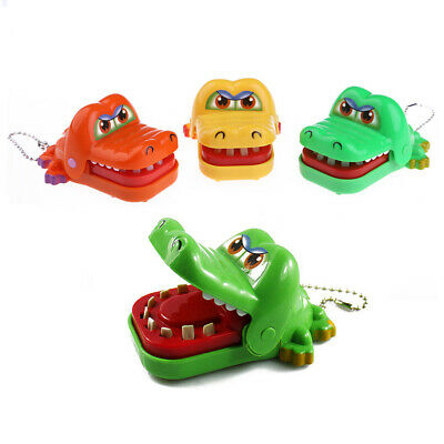 New Cartoon Animal Toy Crocodile Dentist Bite With Keychain Mouth #UK