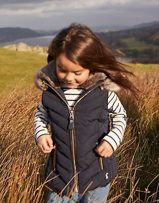 Joules Girls Alanis Quilted Gilet Jacket 3 12 Years in MARINE NAVY Size 4yr