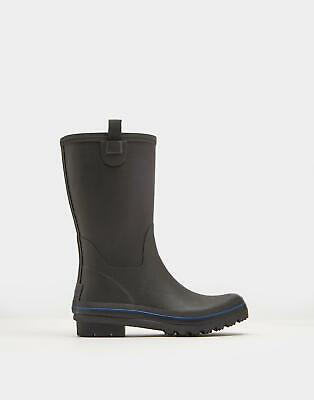Joules Mens Bosworth Mid Height Wellies in TRUE BLACK Size Adult 9