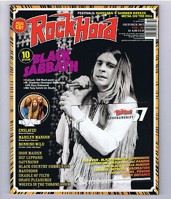 "Rockmagazin ""Rock Hard"" 10/17 Oktober 2017 + CD - Black Sabbath - Ozzy Osbourne"