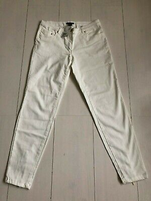 H&M White Cotton Mix Straight Leg Trousers / SIZE 10 / NEW WITH TAGS!