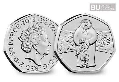 2019 The Snowman 50p Certified Brilliant Uncirculated BUNC