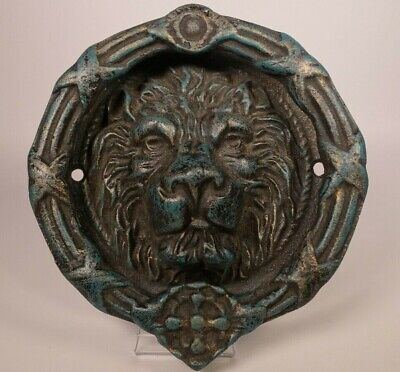 Unique Decorative Large Cast Iron Door Knocker - Ornate Lion Head