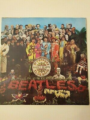 Beatles, Sgt. Pepper's Lonely Hearts Club Band, Parlophone Lp Pcs 7027 Stereo Nm