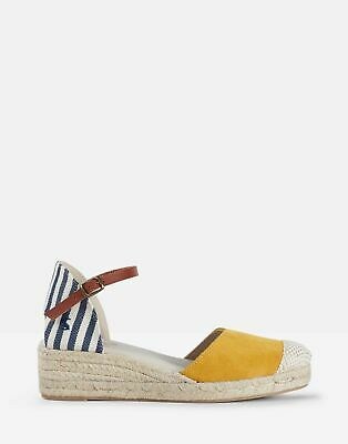 Joules Womens Espadrille Wedges in NAVY STRIPE Size Adult 3