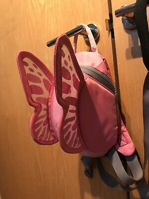 Little Life Backpack Rucksack Reins Pink Butterfly/Fairy Wings