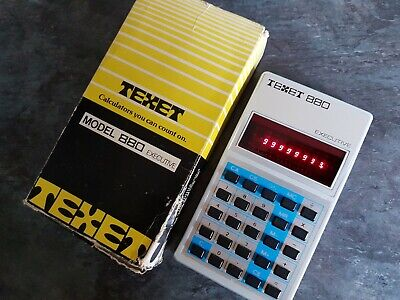 Vintage TEXET Executive 880 Calculator LED 1970s Boxed Fully Working