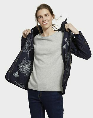 Joules Womens Newdale Quilted Coat in Marine Navy Size 20