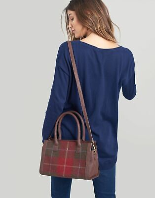 Joules Womens Turnley Tweed Grab Bag in RED CHECK in One Size