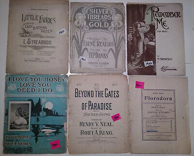 A lot of early 20th Century Sheet Music. - 72 pieces - 1900 to 1918
