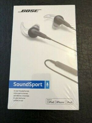 NEW Bose SoundSport in-Ear Headphones for Apple Devices - Wired (Charcoal Black)
