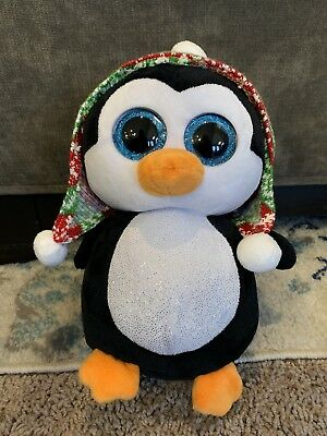 TOY FAIR 2013 GERMANY SHOW EXCLUSIVE PENGUIN TY BEANIE BOOS RARE