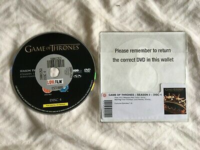 GAME OF THRONES SEASON 2 TWO DISK 4 four -A SINGLE DISK. REPLACE SCRATCHES