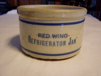 Vintage Red Wing Stoneware Pottery Stacking Refrigerator Jar / Bowl / Crock