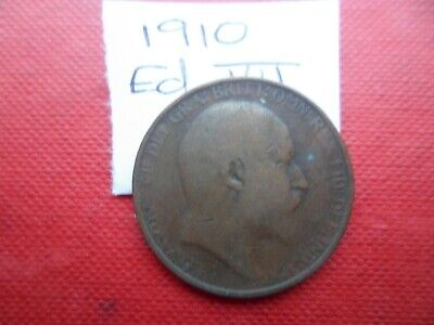 1910 Edward Vii Halfpenny Coin - Please See Photo's For Idea Of Condition