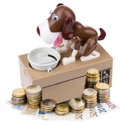 Piggy Bank Hungry Eating Dog Coin Money Save Choken Puppy Robotic Machine G New