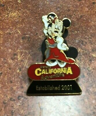 DISNEYLAND CALIFORNIA ADVENTURE EXCLUSIVE MInnie MOUSE PIN EST. 2001 Disney
