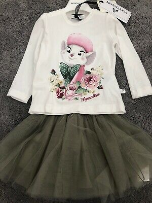 Monnalisa Miss Bianca Skirt Set 2 Years BNWT