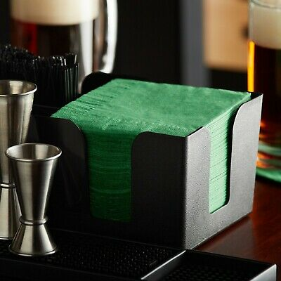 """1000 Pack - 10""""x10"""" Customizable Festive Green 2-Ply Beverage Cocktail Napkins"""