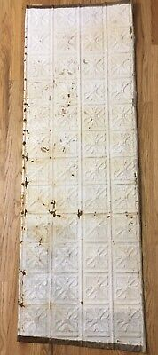 Antique Tin Ceiling Tile 25 X 72 Original Reclaim Salvage Victorian Colorado