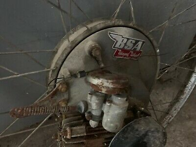 BSA 1950s Winged Wheel restoration project autocycle cyclemaster