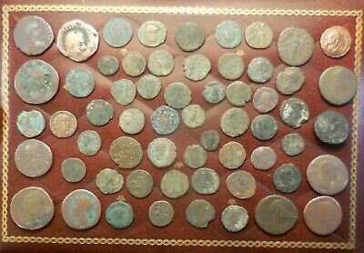 3 Day Listing! Lot of 60 Detailed Ancient Roman Coins, Largest is 28 mm.