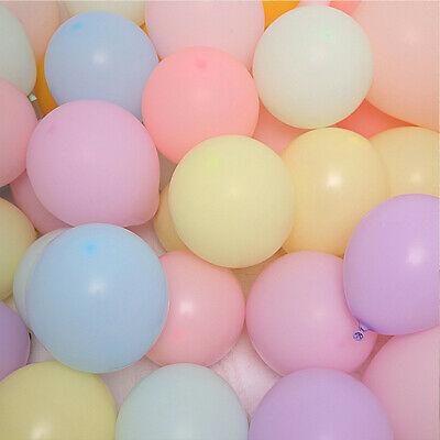 """Pack of 100 Pastel Latex Balloons Macaron Candy Many Colour Party 10"""" Balloons"""