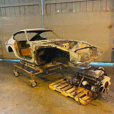 1973 Datsun Z-Series  1973 Datsun 240z L24 Green Z Series Coupe Shell Matching Engine and Tags