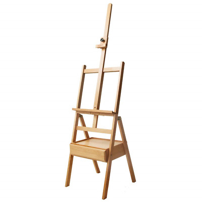 Mont Marte Signature Box Floor Easel, Beech Wood Holds Canvases up to 35in in